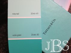 Benjamin Moore Scuba Green Tiffany Blue
