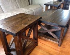 Farmhouse Coffee Table by CraftyRusticElegance on Etsy