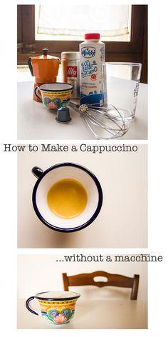 How to Make Cappuccino Foam at Home Without a Macchine || via allafiorentina.com #coffee