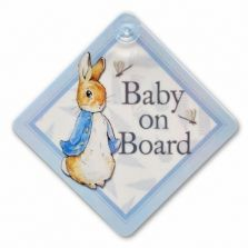 Peter Rabbit Baby on Board Car Sign
