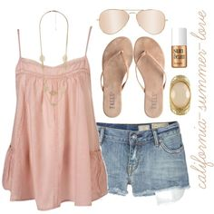 """Beach Summer Outfit"" by california-summer-love on Polyvore"