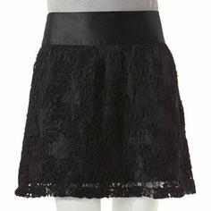 LBK Floral Soutache Skirt - Juniors