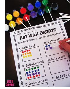 How to Teach Arrays - lots of really fun ideas for teaching repeated addition and rectangular arrays Maths 3e, Teaching Multiplication, Teaching Math, Multiplication Strategies, Fun Math, Math Activities, Addition Activities, Maths Games Ks2, Leadership Activities