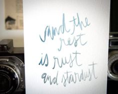 le petit prince quote // turquoise watercolor 5x5 by lostandsound