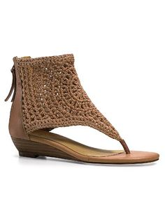 Designer Clothes, Shoes & Bags for Women Crochet Sandals, Crochet Shoes, Crochet Slippers, Shoes Flats Sandals, Leather Wedge Sandals, Fashion Slippers, Fashion Shoes, Crochet Flip Flops, Hype Shoes