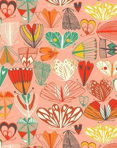 print & pattern, Print designed by Sarah Papworth Motifs Textiles, Textile Patterns, Textile Prints, Textile Design, Surface Pattern Design, Pattern Art, Art Graphique, Pretty Patterns, Pattern Illustration