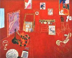 """""""Red Studio"""", among the Matisse paintings shown at the Armory Show in 1913, so angered viewers that students burned Matisse works in effigy.  Imagine!"""