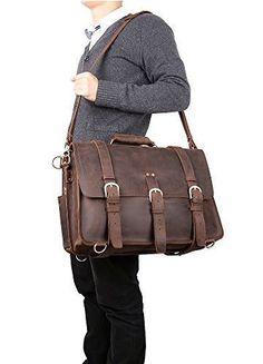 Handmade Full Grain #Leather #Briefcase #Selvaggio Vintage