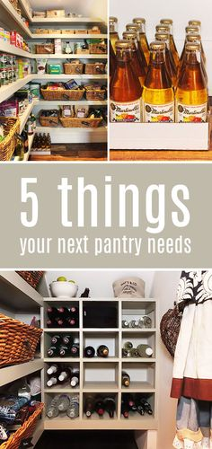 5 things you need in your next #pantry #kitchen pantry #reveal plus make this cute tag!