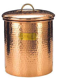 OLD DUTCH INTERNATIONAL - Décor Copper Hammered Cookie Jar