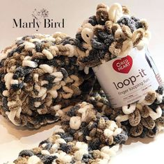 Loop-it™ Yarn By Red Heart Free Pattern by Marly Bird Loop-it Puffy Seed Stitch Scarf Finger Knitting Blankets, Hand Knit Blanket, Arm Knitting, Knitted Blankets, Knitting Patterns, Crochet Patterns, Tie Blankets, Chunky Blanket, Scarf Patterns