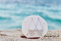 Sirena earrings, handmade Island jewelry – Atelys Sterling Silver Chains, Sterling Silver Earrings, Prism Color, Silver Bars, Timeless Classic, Hand Stamped, Earrings Handmade, Pendants, Island