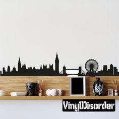 London Skyline Vinyl Wall Decal or Car Sticker SS039