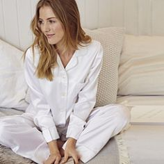 bea6fdd1a4a2 Buy Piped Silk Pajama Set - from The White Company Satin Sleepwear