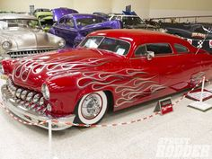 1950 mercury coupe - Red with flames