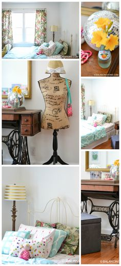 Girl bedroom decor, design. Some vintage pieces.