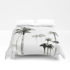 Shadow palms Duvet Cover