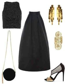 Long full skirt and crop top - perfect party outfit modify