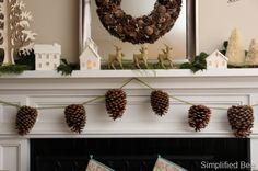 pinecone_garland_christmas_mantel