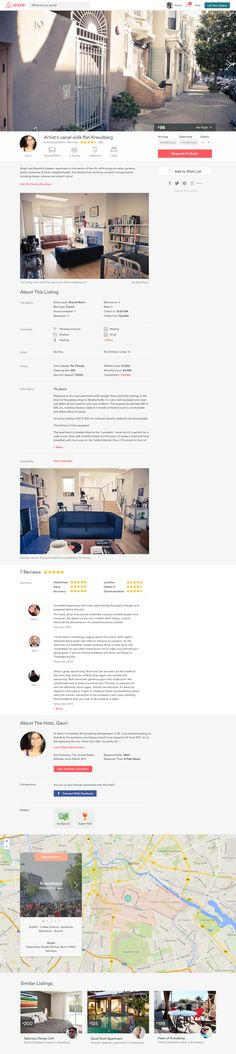 Listing Details Page by Kyle Pickering for Airbnb