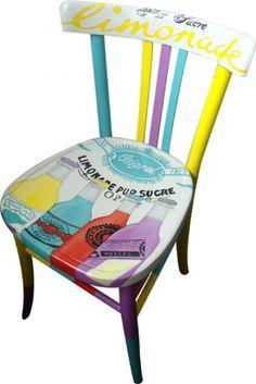 """Pop Art """"Limonade"""" Chair by Silvia Zacchello"""