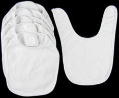 Bib blanks in solid colors - Infant Velcro Bib - Wee Wearz | Wholesale Blank Clothes