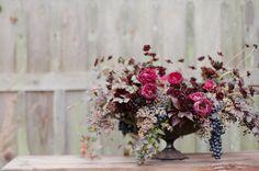 fall arrangement. #bluebirdproductions #wedding