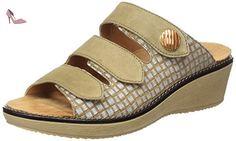 Ganter  GRACIA, Weite G, Mules femme - Beige - Beige (sahara 1600), 42 - Chaussures ganter (*Partner-Link)
