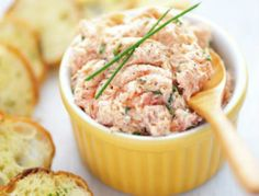 Smokey Salmon Spread (made w/ greek yogurt). Makes 8, 1/4 cup servings. Approx. 70 cal, 8g protein, 3g carbs, 2g fat