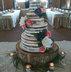 Logan/Holder wedding set up. Cake by Lori Smith. www.centsibleevents.com Find us on Facebook…