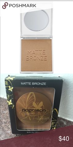 "* Unused* Napoleon PERDIS Matte Bronze Pro Tip: ""Use this subtle bronzing powder to give natural warmth to the face, neck, and even décolletage, dusting over the skin with a large soft brush."" Napoleon Perdis Makeup Bronzer"