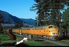 Net Photo: UP 951 Union Pacific EMD at Cascade Locks, Oregon by Wendel Moran Heritage Train, Cascade Locks, Union Pacific Railroad, Old Trains, Train Pictures, Rolling Stock, Jazz Age, Airplane, Oregon