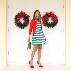 J's Everyday Fashion provides outfit ideas, budget fashion, shopping on a budget, personal style inspiration, and tips on what to wear. Camo Dress, Dress Red, Js Everyday Fashion, Red Cardigan, Budget Fashion, Green Stripes, Striped Dress, Autumn Winter Fashion, Style Inspiration