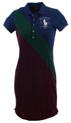 Ralph Lauren Sport Womens Big Pony Logo Polo Shirt Dress - http://ocdinvestments