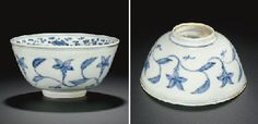 A rare blue and white warming bowl, Ming dynasty, late 15th century, probably Chenghua period