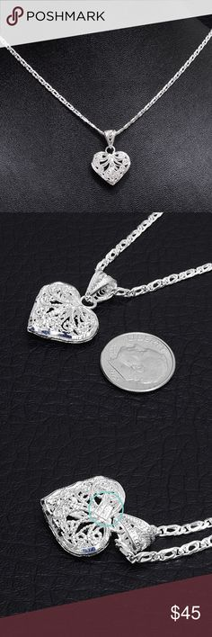 """‼️Clearance‼️Sterling Filagree Pendant & Chain Chain Stamped """"925"""" Size 18 inches. Pendant stamped """"925 Mex"""".   This is not a stock photo. The image is of the actual article that is being sold  Sterling silver is an alloy of silver containing 92.5% by mass of silver and 7.5% by mass of other mThe sterling silver standard has a minimum millesimal fineness of 925.   All my jewelry is solid sterling silver. I do not plate.   Crafted in Taxco, Mexico  Will ship within 2 days of order. Jewelry…"""