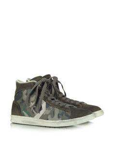 27b051d93bdd35 Converse Limited Edition Pro Leather Mid Canvas and Suede Sneaker