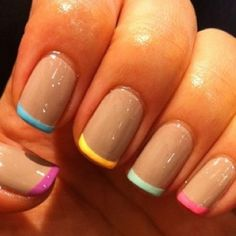 Colorful tips - Instagram nail art