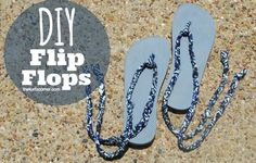 Audra Kurtz shows you how to make custom flip-flops using Lion Brand's Fettuccini® Yarn!
