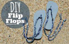 Audra Kurtz shows you how to make custom flip-flops using Lion Brand's Fettuccini® Yarn!
