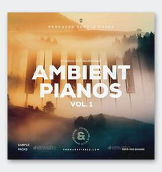Ambient Pianos Album Cover Design Template PSD Piano, Album Cover Design, Album Covers, Templates, Artwork, Stencils, Work Of Art, Auguste Rodin Artwork, Template