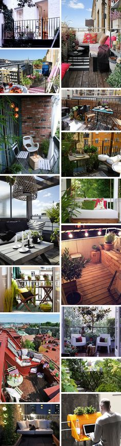 """Small Balcony Inspo"" from the Fashion Writress. Diferentes ideas y estilos para que te identifiques con el que mas te guste y te atrevas!"