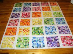 Image detail for -audreypawdrey: Postage Stamp Quilt: top is almost done! Strip Quilts, Scrappy Quilts, Quilt Blocks, Quilt Kits, Mini Quilts, Postage Stamp Quilt, Postage Stamps, Quilting Projects, Quilting Designs