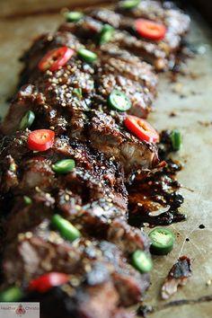BBQ Sticky Asian Pork Ribs