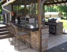 This Outdoor Cooking Area Is Pretty Cool Kitchens Kitchen
