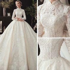 Muslimah Wedding Dress, Muslim Wedding Dresses, Dream Wedding Dresses, Bridal Dresses, Muslim Gown, Ball Dresses, Ball Gowns, Pretty Dresses, Beautiful Dresses