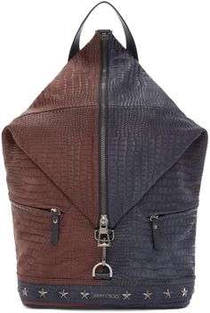 ec2062b3e7024d Jimmy Choo - Cherry & Navy Fitzroy Backback Mens Designer Backpacks,  Jimmy Choo Men