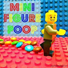 PDF Lego Man Minifigure Poop Party - Bag Toppers - TOY BRICKS Building Blocks