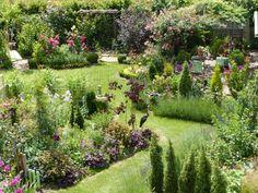 Effet contemporain jardin sec fleurs jardins pinterest for Jardin anglais marseille