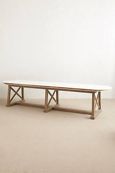 Lacquered Farmhouse Table
